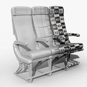 Vliegtuigstoel 3d model