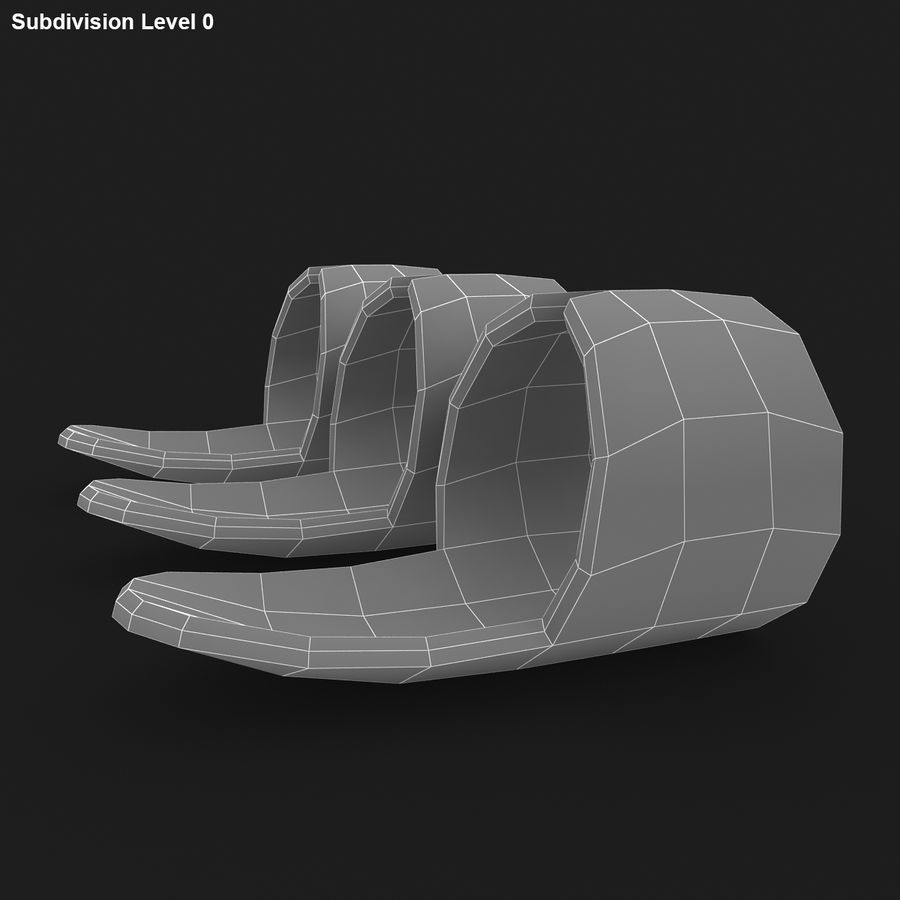 Finger Pick royalty-free 3d model - Preview no. 15