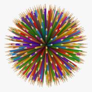 Pencil Ball 3d model
