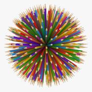 Карандаш карандаш 3d model