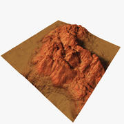 Wüste und Rock 3d model