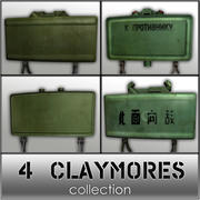 4 Claymores Collection 3d model