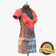 Party Kleid 3d model