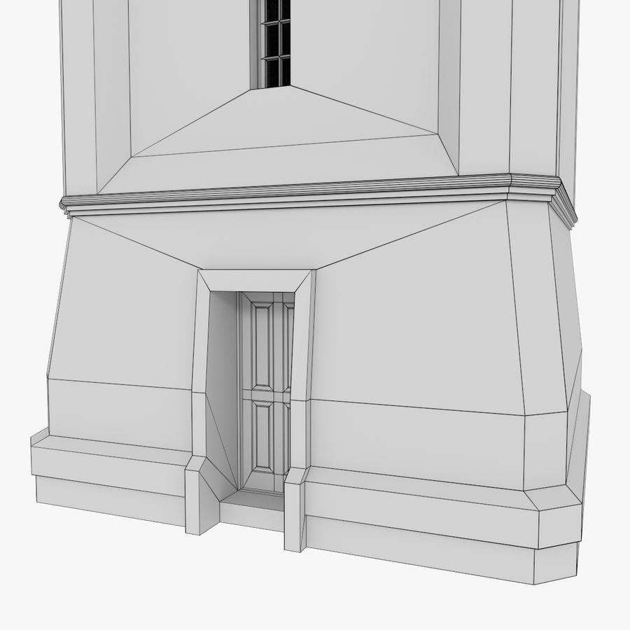 Wieża zegarowa trzy z teksturowanym wnętrzem royalty-free 3d model - Preview no. 18