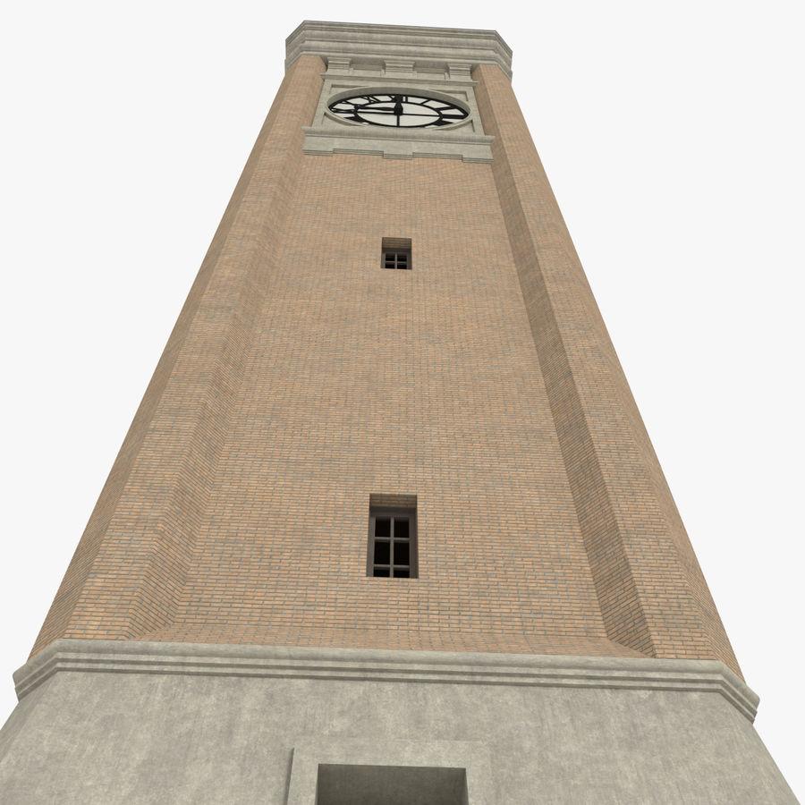 Wieża zegarowa trzy z teksturowanym wnętrzem royalty-free 3d model - Preview no. 7
