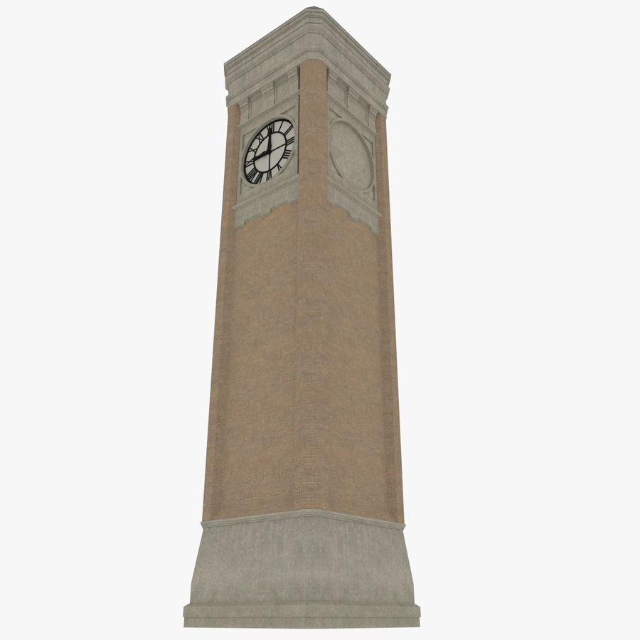 Wieża zegarowa trzy z teksturowanym wnętrzem royalty-free 3d model - Preview no. 3