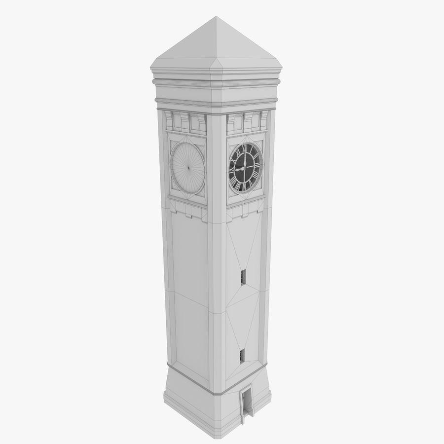 Wieża zegarowa trzy z teksturowanym wnętrzem royalty-free 3d model - Preview no. 14