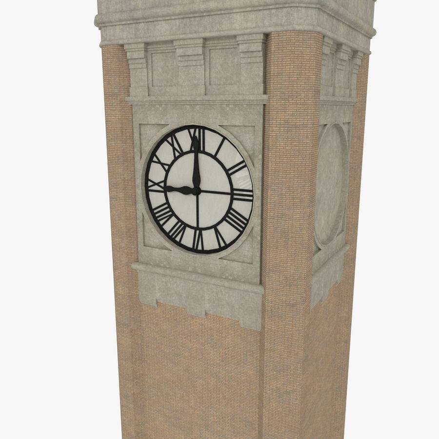 Wieża zegarowa trzy z teksturowanym wnętrzem royalty-free 3d model - Preview no. 5