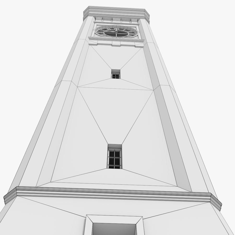 Wieża zegarowa trzy z teksturowanym wnętrzem royalty-free 3d model - Preview no. 19