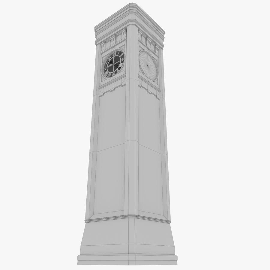 Wieża zegarowa trzy z teksturowanym wnętrzem royalty-free 3d model - Preview no. 15