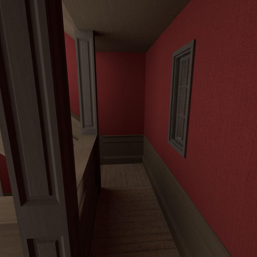 Wieża zegarowa trzy z teksturowanym wnętrzem royalty-free 3d model - Preview no. 9