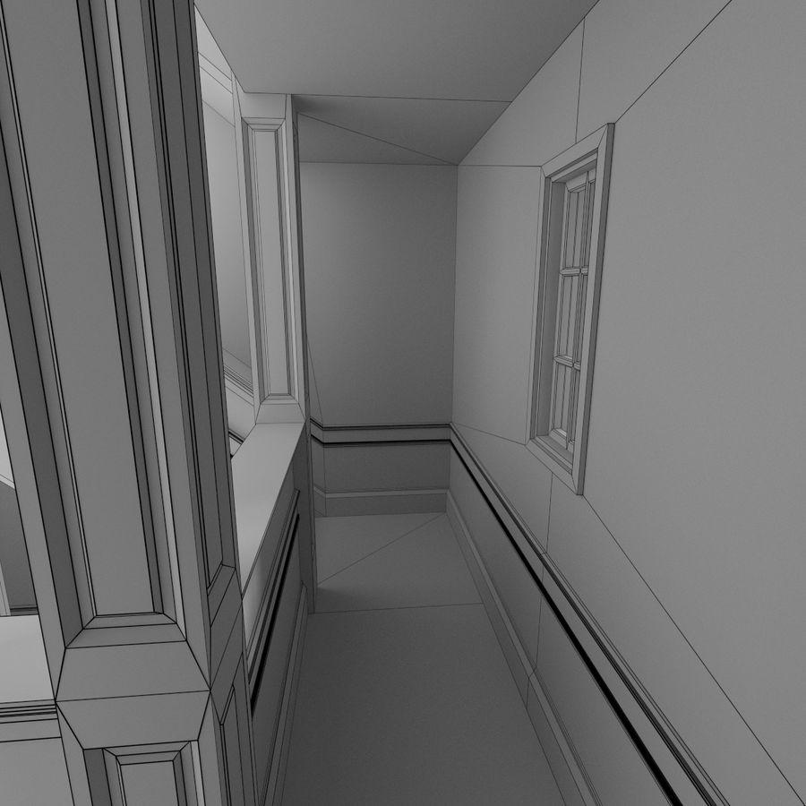 Wieża zegarowa trzy z teksturowanym wnętrzem royalty-free 3d model - Preview no. 21
