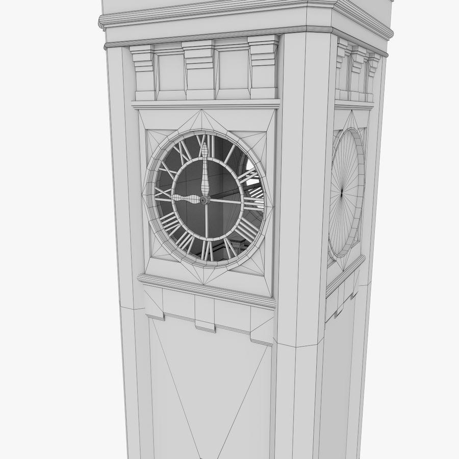 Wieża zegarowa trzy z teksturowanym wnętrzem royalty-free 3d model - Preview no. 17