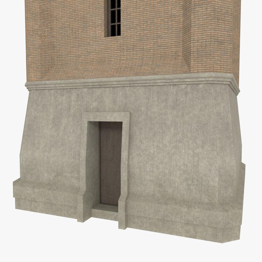Wieża zegarowa trzy z teksturowanym wnętrzem royalty-free 3d model - Preview no. 6