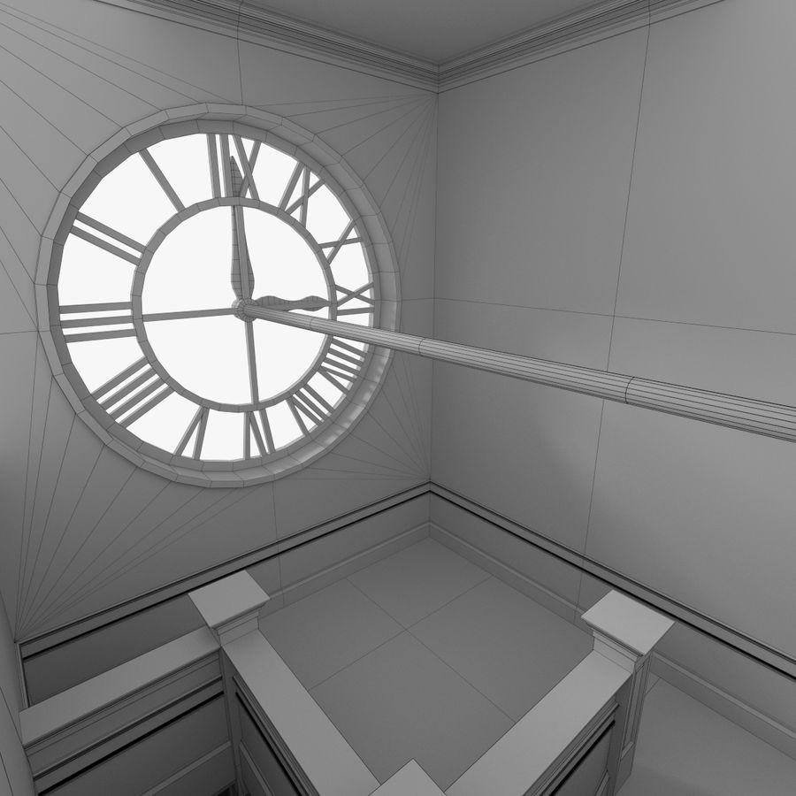 Wieża zegarowa trzy z teksturowanym wnętrzem royalty-free 3d model - Preview no. 22