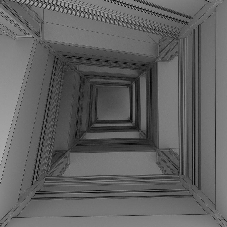 Wieża zegarowa trzy z teksturowanym wnętrzem royalty-free 3d model - Preview no. 20
