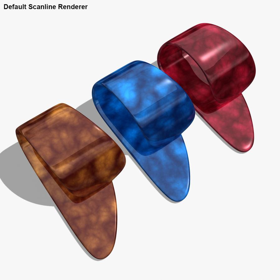 Thumb Pick royalty-free 3d model - Preview no. 22