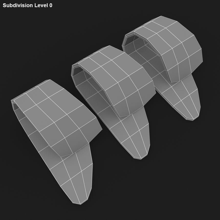 Thumb Pick royalty-free 3d model - Preview no. 18