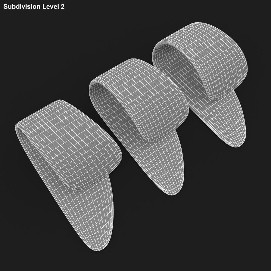 Thumb Pick royalty-free 3d model - Preview no. 20
