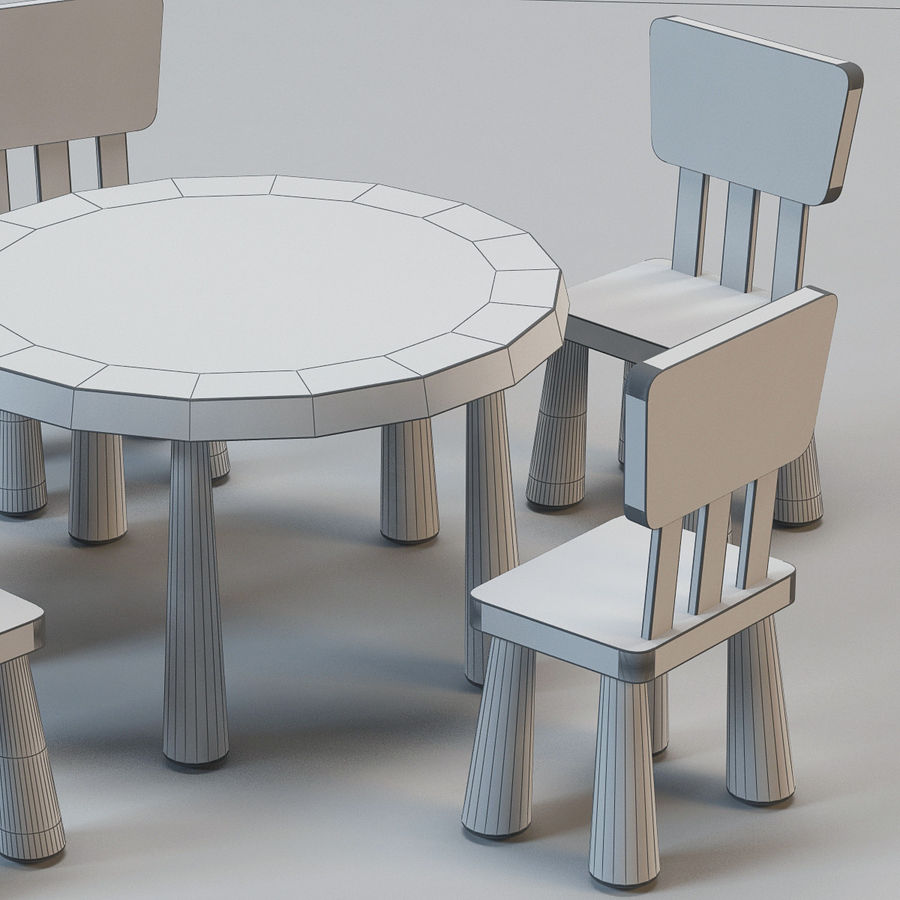 Ikea Mammut Chairs And Tables 3d Model 29 Max Obj 3ds Free3d