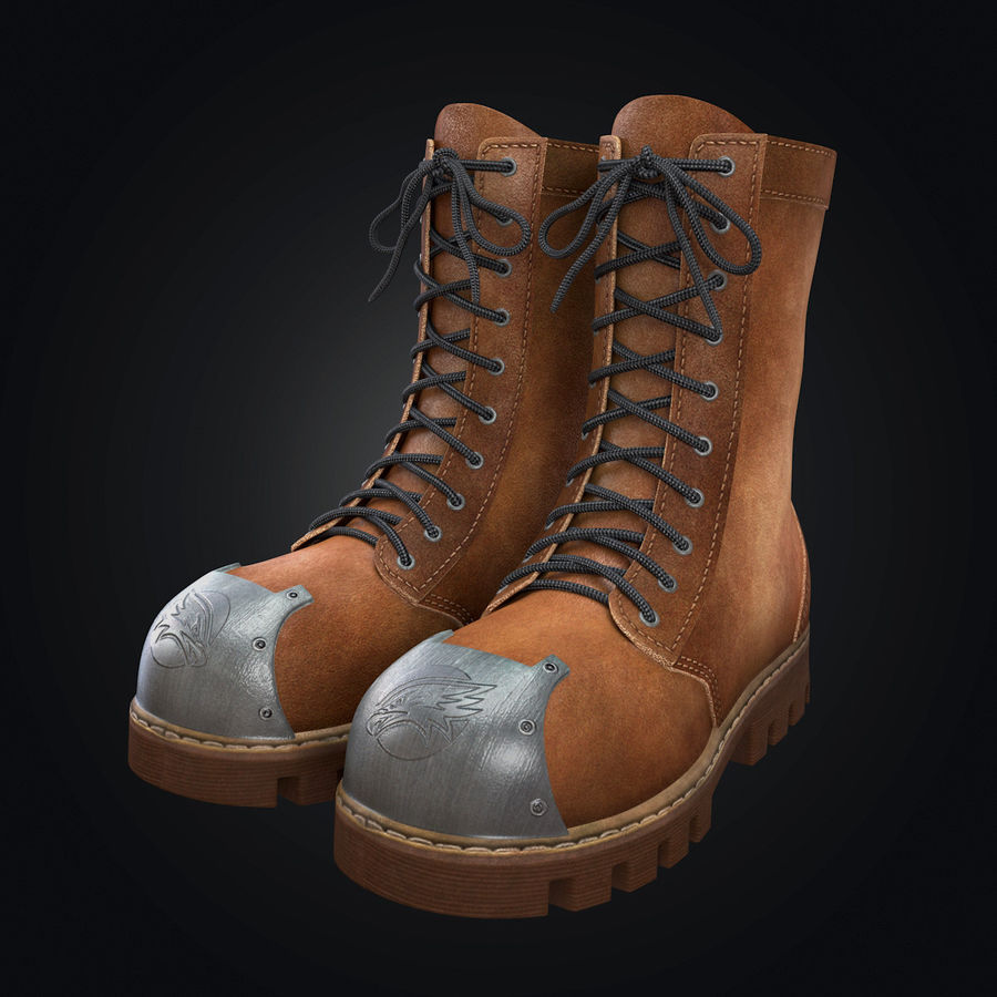 Military Boots Eagle royalty-free 3d model - Preview no. 1
