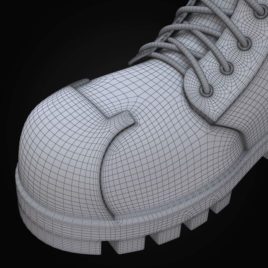 Military Boots Eagle royalty-free 3d model - Preview no. 28