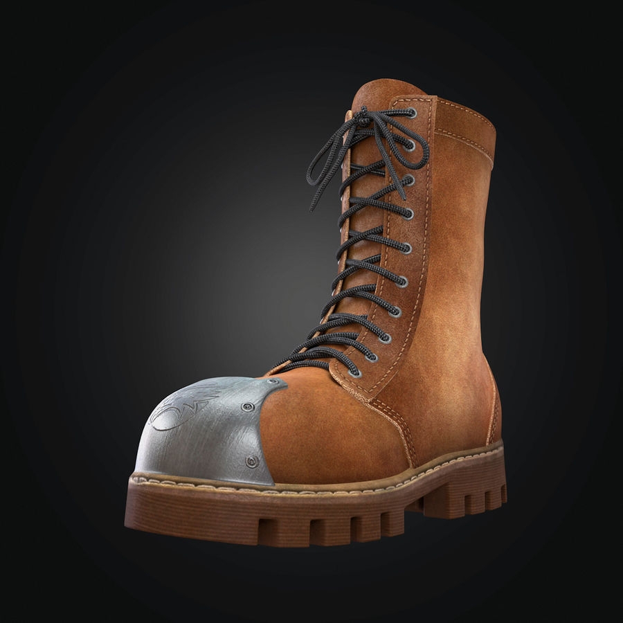 Military Boots Eagle royalty-free 3d model - Preview no. 8
