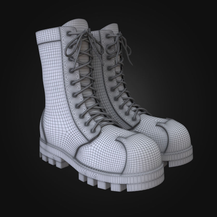Military Boots Eagle royalty-free 3d model - Preview no. 5