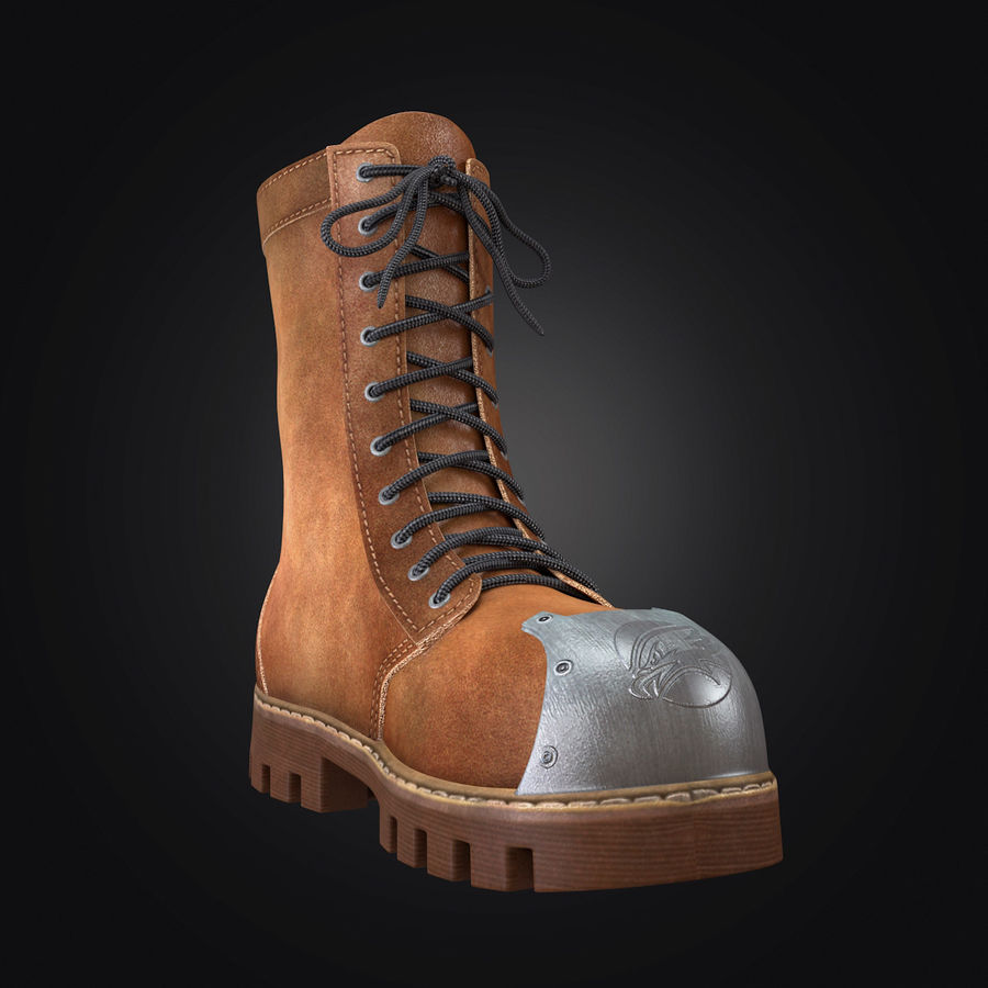 Military Boots Eagle royalty-free 3d model - Preview no. 7