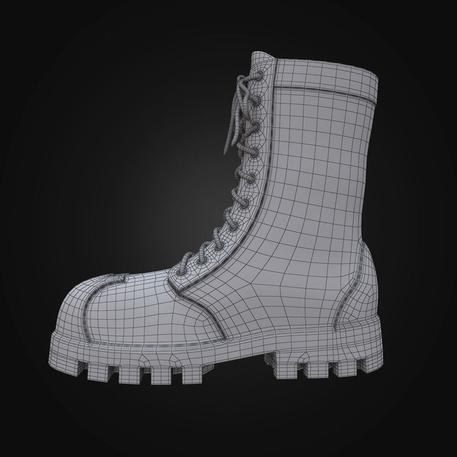 Military Boots Eagle royalty-free 3d model - Preview no. 18