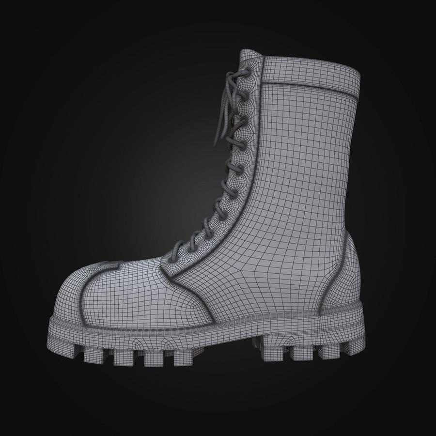 Military Boots Eagle royalty-free 3d model - Preview no. 19