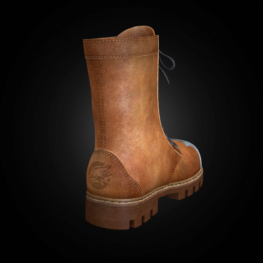 Military Boots Eagle royalty-free 3d model - Preview no. 13