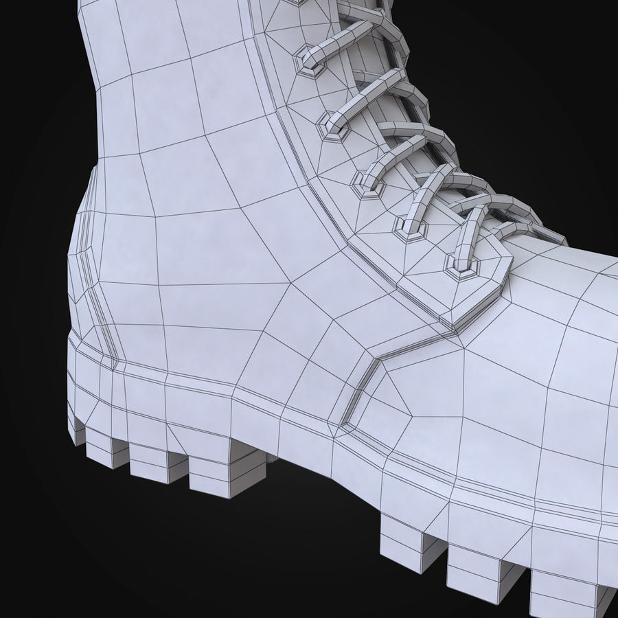 Military Boots Eagle royalty-free 3d model - Preview no. 24