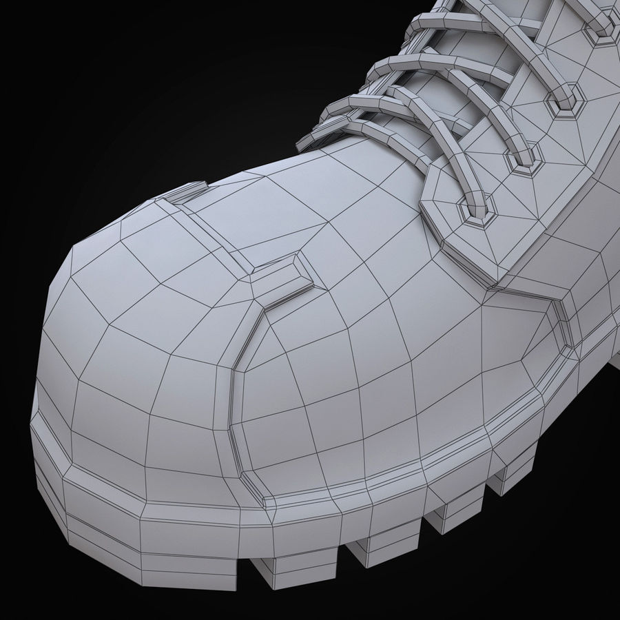 Military Boots Eagle royalty-free 3d model - Preview no. 26