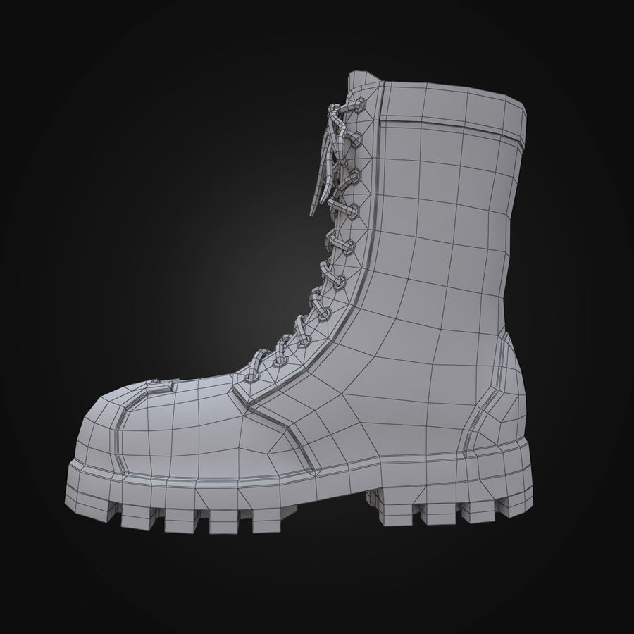 Military Boots Eagle royalty-free 3d model - Preview no. 17