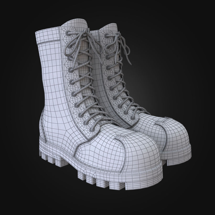 Military Boots Eagle royalty-free 3d model - Preview no. 4