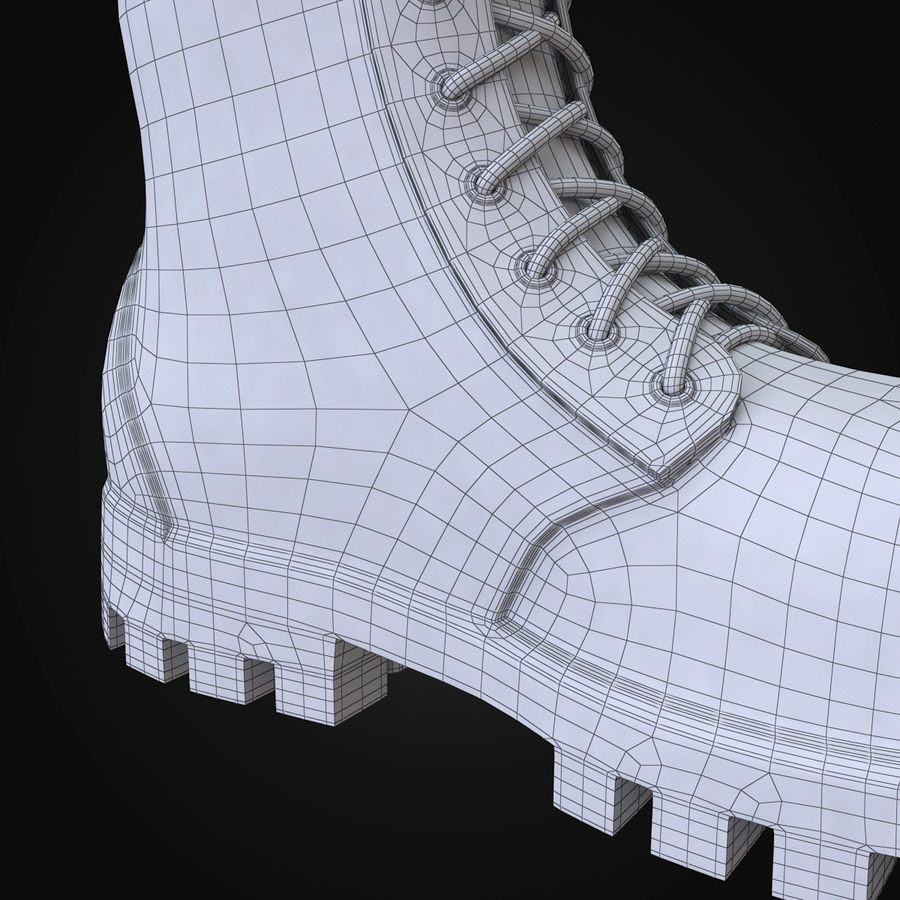 Military Boots Eagle royalty-free 3d model - Preview no. 23