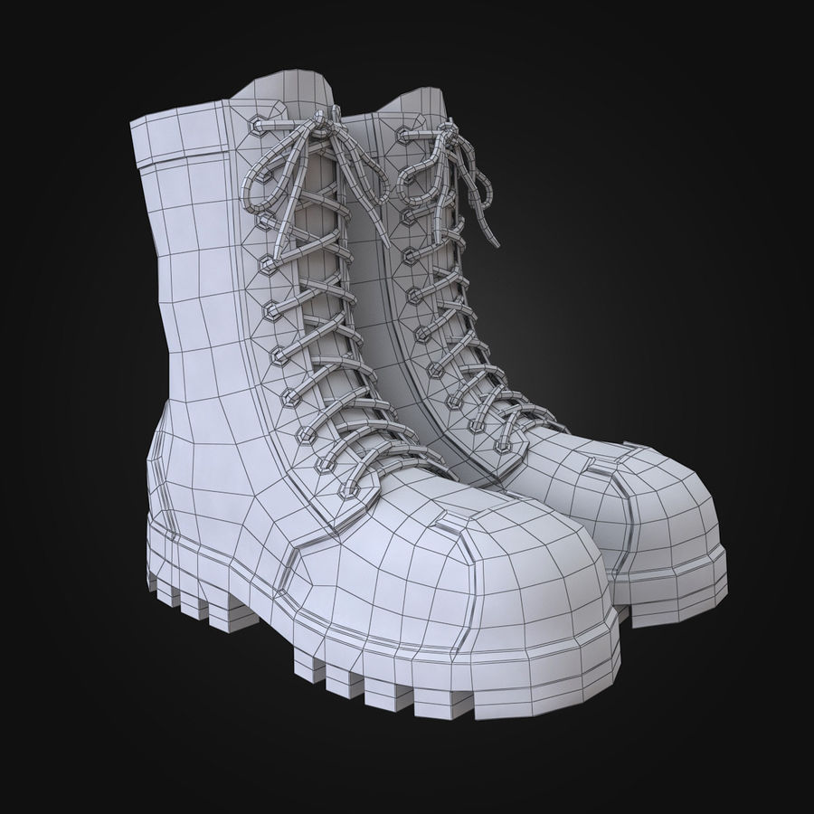 Military Boots Eagle royalty-free 3d model - Preview no. 3