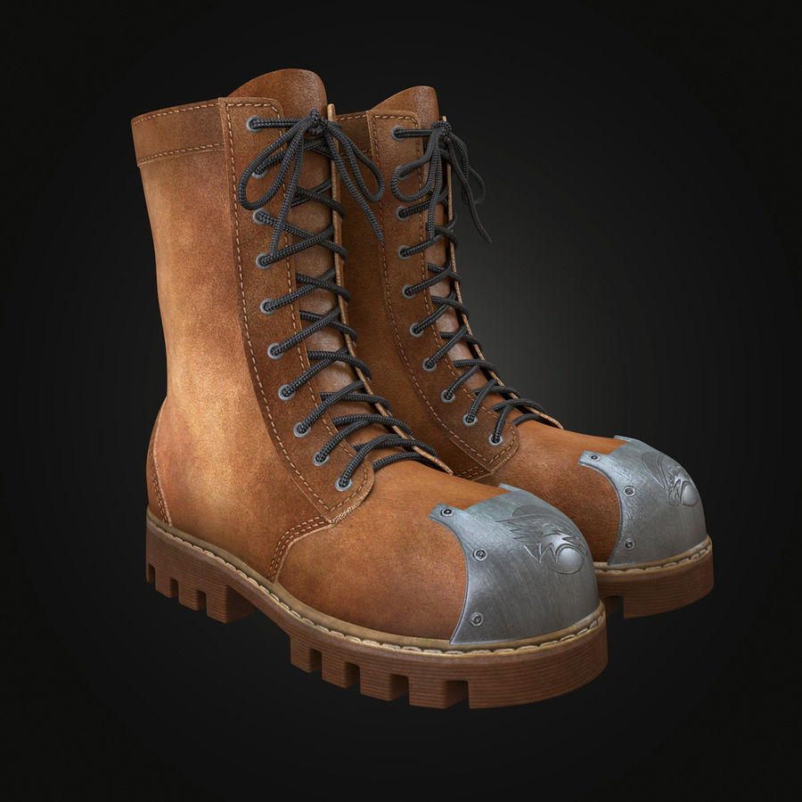 Military Boots Eagle royalty-free 3d model - Preview no. 2