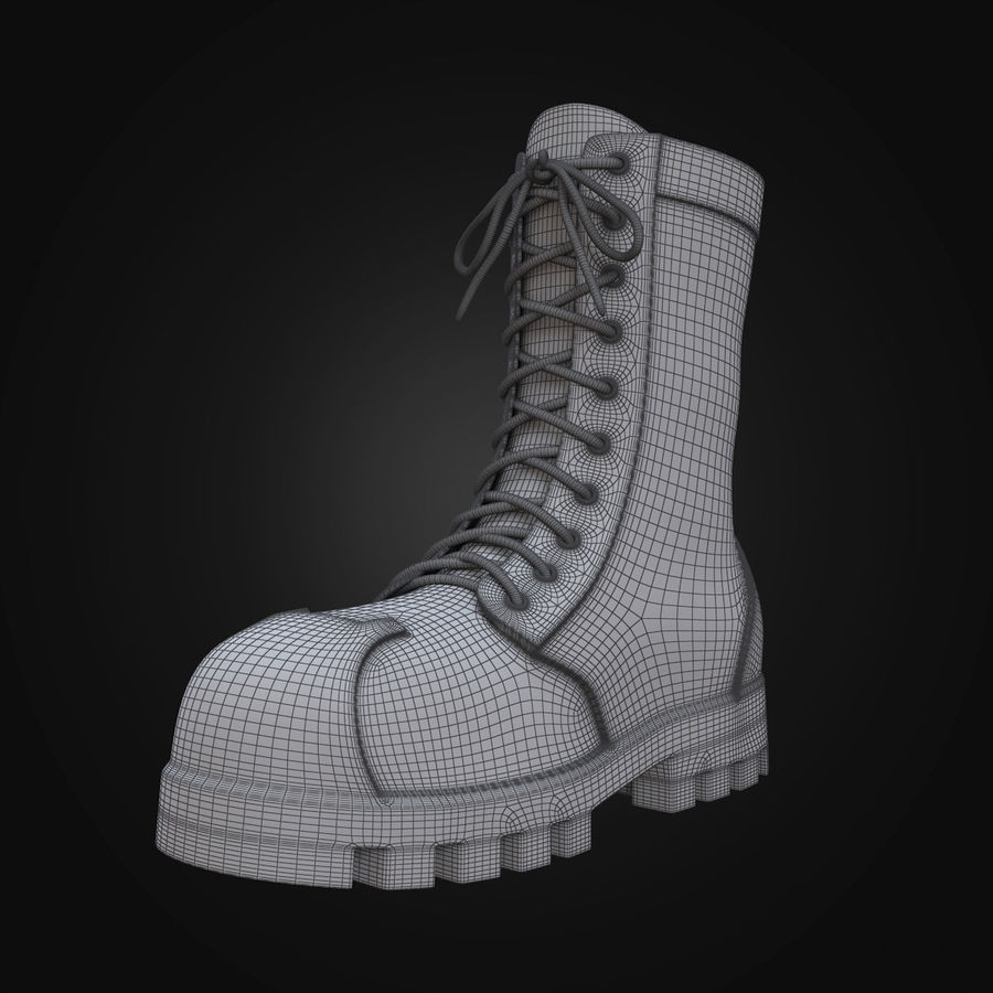 Military Boots Eagle royalty-free 3d model - Preview no. 16