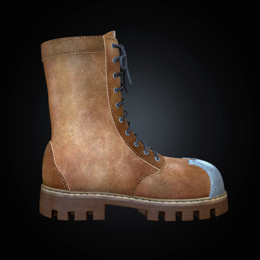Military Boots Eagle royalty-free 3d model - Preview no. 11