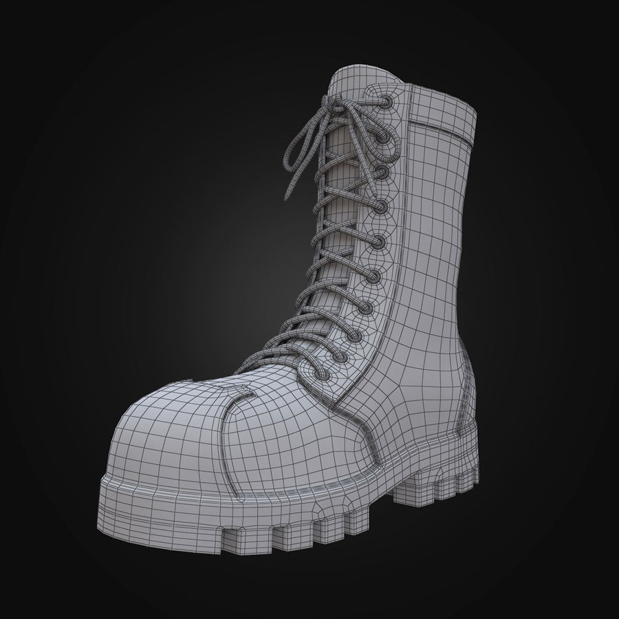 Military Boots Eagle royalty-free 3d model - Preview no. 15