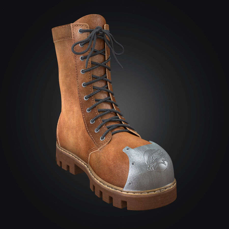 Military Boots Eagle royalty-free 3d model - Preview no. 10