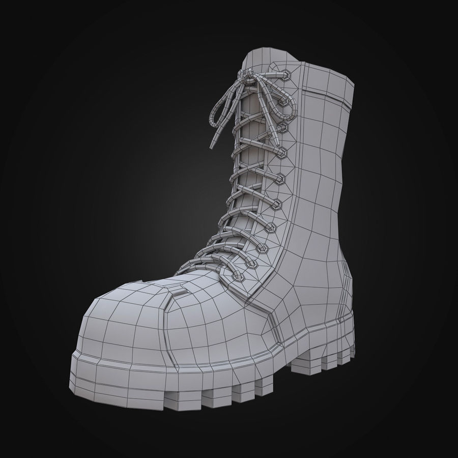 Military Boots Eagle royalty-free 3d model - Preview no. 14
