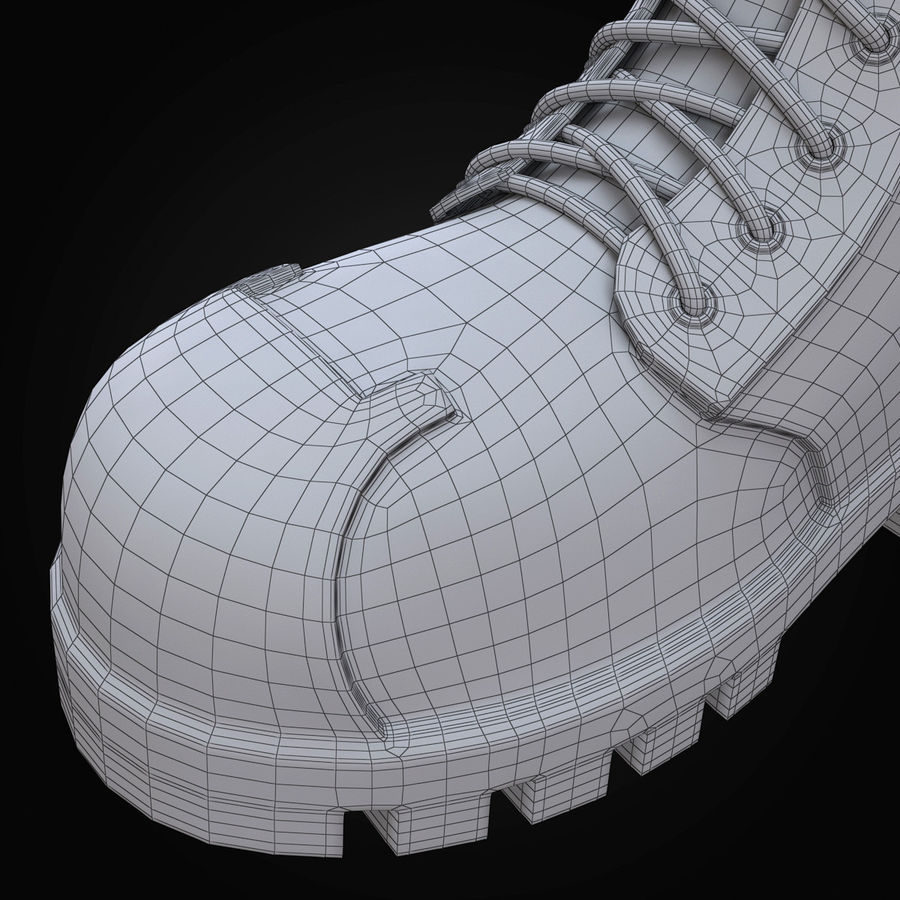 Military Boots Eagle royalty-free 3d model - Preview no. 27