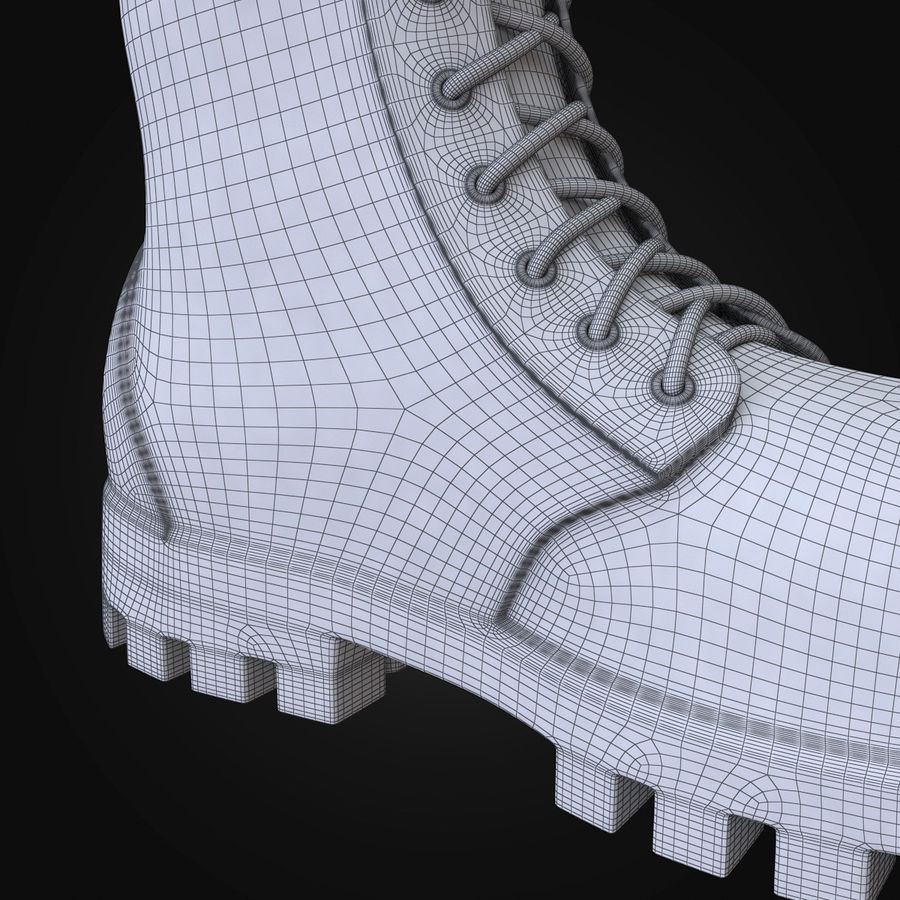 Military Boots Eagle royalty-free 3d model - Preview no. 25