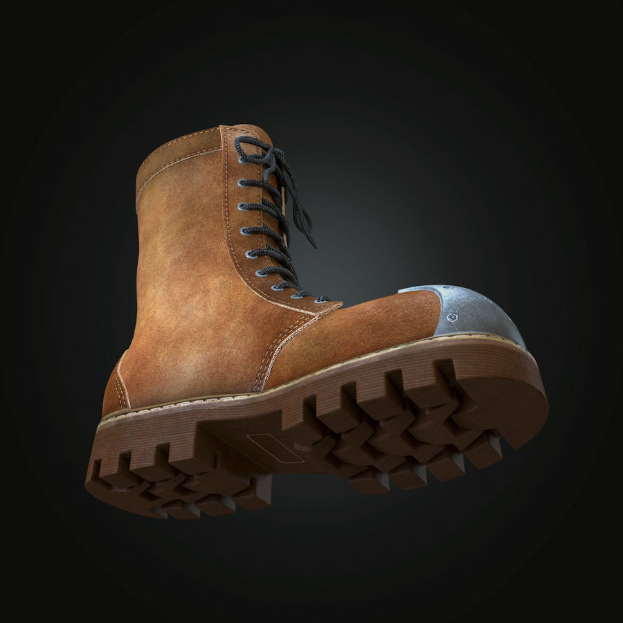 Military Boots Eagle royalty-free 3d model - Preview no. 12