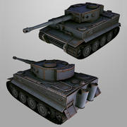 Tanque TIGRE lowpoly modelo 3d