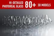 Glass set 3d model