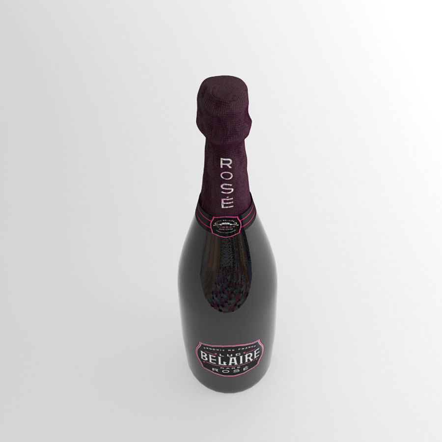 Butelka Belaire royalty-free 3d model - Preview no. 4